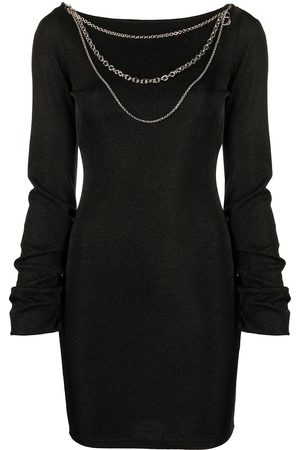 Roberto Cavalli Fitted chain detail dress