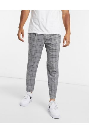 River Island Pleated smart trousers in check