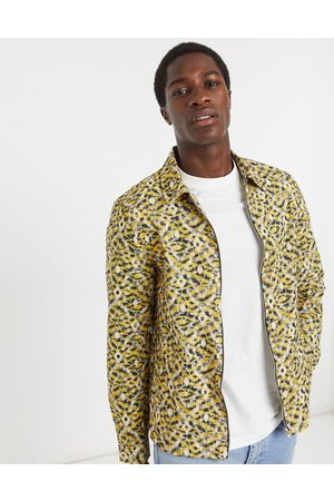 River Island Long sleeve shirt with abstract print in