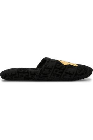 VERSACE Medusa terricloth slippers
