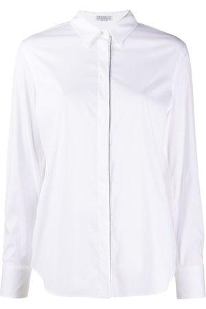 Brunello Cucinelli Women Long Sleeve - Monili-embellished shirt