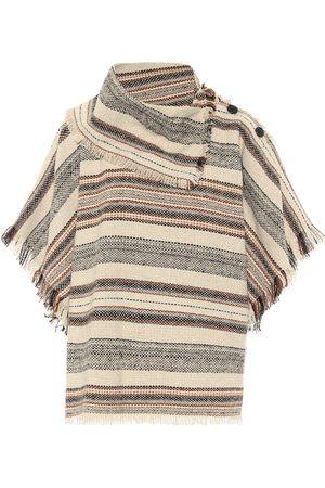 Isabel Marant Jacoya striped tweed poncho