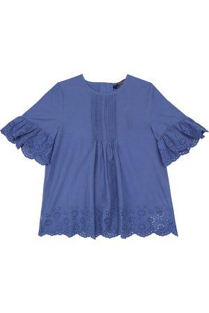Ralph Lauren Embroidered cotton top