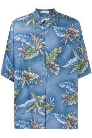 Pierre Cardin 1990s leaf print shirt