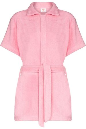 All Things Mochi Cotton-terry playsuit