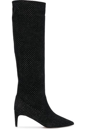 RED Valentino Embellished knee high boots