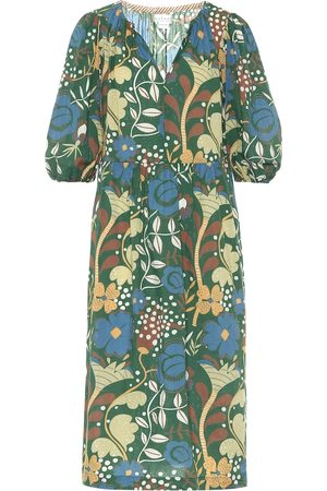 Velvet Virginia floral cotton midi dress