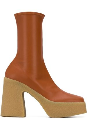 Stella McCartney Sock-style platform 120mm ankle boots