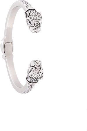 Nialaya Engraved animal head bangle