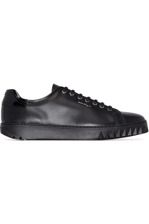 Salvatore Ferragamo Men Sneakers - Cube leather sneakers