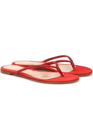 Gianvito Rossi India suede thong sandals