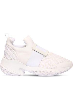 Roger Vivier 75mm Viv Run Neoprene & Leather Sneakers