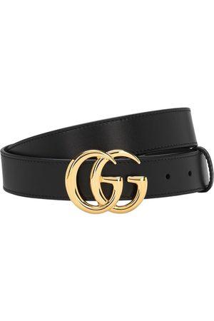 Gucci 3cm Gg Leather Belt