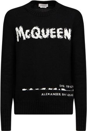 Alexander McQueen Graffiti Intarsia Cotton Knit Sweater