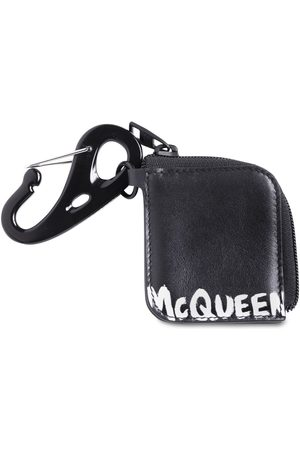 Alexander McQueen Logo Print Leather Zip Pouch