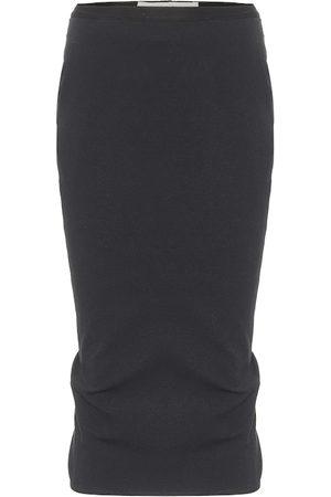 Rick Owens Women Midi Skirts - Pillar cotton-blend midi skirt