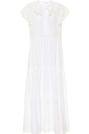 Chloé Cotton-voile midi dress