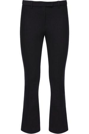 Max Mara Cropped Stretch Cotton Twill Pants