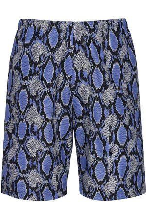 Pins & Needles Python Print Nylon Swim Shorts
