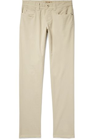 Loro Piana Men Slim Trousers - Slim-Fit Stretch-Cotton Trousers