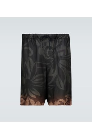 DRIES VAN NOTEN Floral printed shorts