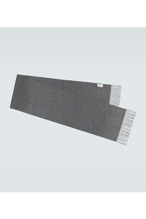 Alexander McQueen Men Scarves - Fringed cashmere scarf
