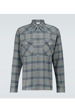 DRIES VAN NOTEN Checked flannel shirt
