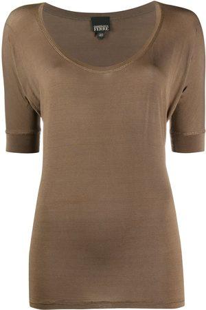 Gianfranco Ferré Women Short Sleeve - 1990s U-neck T-shirt