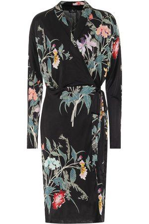 Etro Floral jersey wrap dress