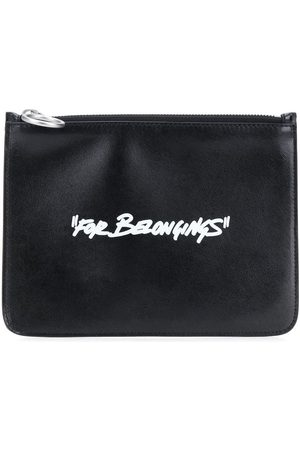 OFF-WHITE QUOTE FLAT POUCH WHITE