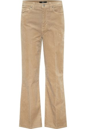 7 for all Mankind Alexa high-rise cropped corduroy jeans