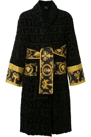 VERSACE Barocco trim terry robe