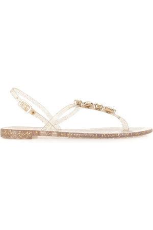 Casadei Crystal embellished jelly sandals