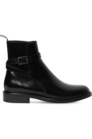 Saint Laurent 20mm Army Brushed Leather Ankle Boots