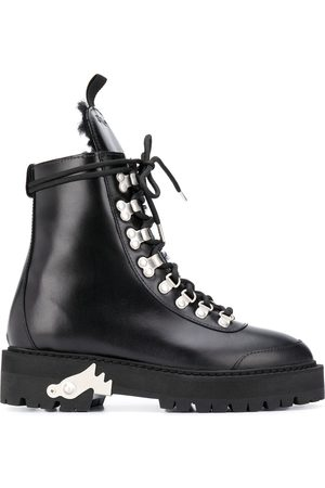 OFF-WHITE LEATHER HIKING BOOT WHITE