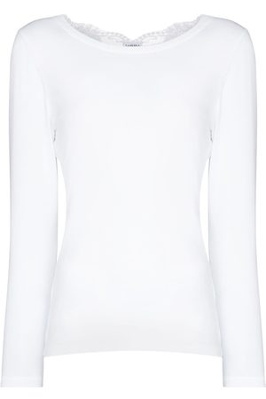 La Perla Souple lace-trim cotton pyjama top