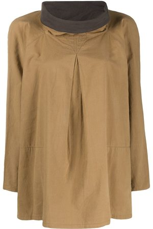 Issey Miyake Women Shirts - 1970s cowl neck blouse
