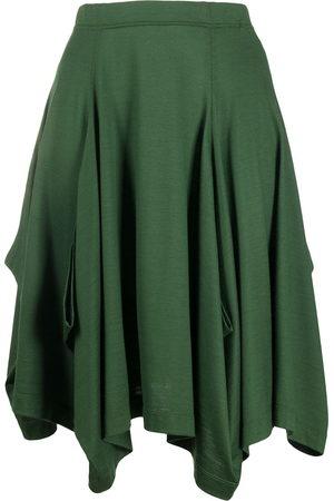 Issey Miyake Women Skirts - 1980s asymmetric wool skirt