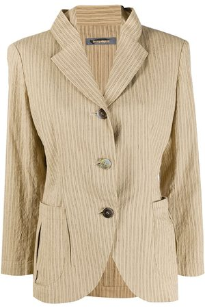 Issey Miyake 1980s pinstripe print jacket
