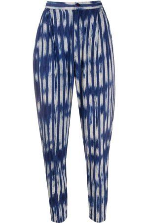 Issey Miyake 1980s tie-dye print trousers