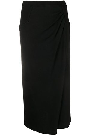 Issey Miyake 1980s ruched pencil skirt