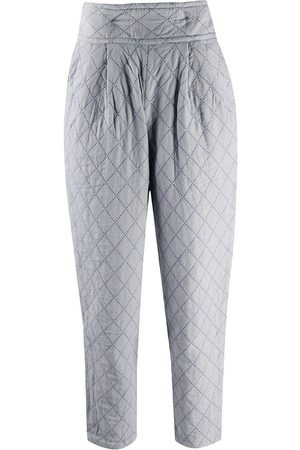 Issey Miyake Women Trousers - 1970s padded tapered trousers