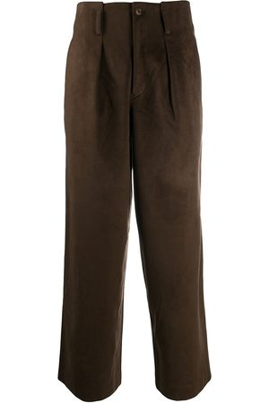 Issey Miyake Women Leather Trousers - 1980s faux suede trousers