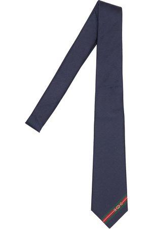 Gucci 7cm Gg Logo Silk Tie
