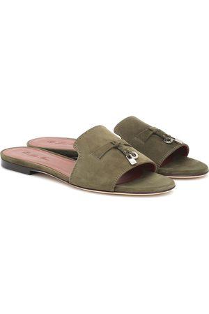 Loro Piana Women Platform Sandals - Summer Charms suede sandals