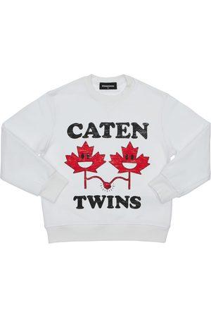 Dsquared2 Boys Sweatshirts - Twins Printed Cotton Sweatshirt