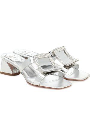 Roger Vivier Bikiviv' 45 metallic leather sandals