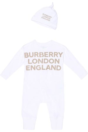 Burberry Baby Cleo cotton onesie and hat set