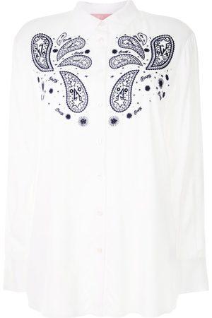 BAPY Women Long Sleeve - Paisley-print long-sleeve shirt