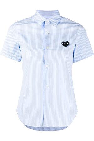 Comme des Garçons Women Short Sleeve - Logo striped short-sleeve shirt